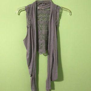 Papaya Gray Loose Vest